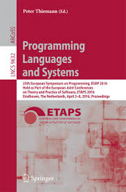 programming languages and systems ebook by 9783662494981