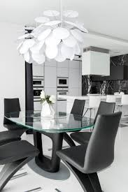 Black And White Dining Room by This Apartment Has An Almost Entirely Black And White Interior