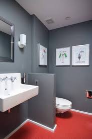 grey bathroom ideas combinate with red floor and decorate with