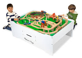 thomas train table amazon 54 play table for train set wooden train table set track play toy