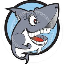 cartoon shark vector illustration by clip art guy toon vectors
