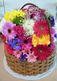 basket of flowers basket of flowers cake sweet simple stuff