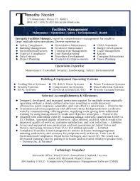 Managing Director Resume Sample by Download Facilities Manager Resume Haadyaooverbayresort Com