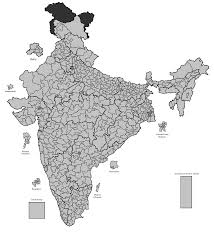 Blank Maharashtra Map by India 2014