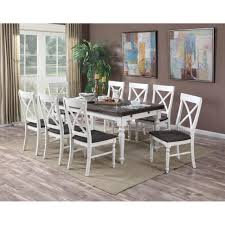 dining room sets 9 piece emerald mountain retreat 9 piece dining set with two tone finished