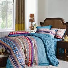 Duvet Covers Brown And Blue Aqua Blue Purple And Brown Retro Chic Unique Indian Tribal Pattern