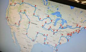 map trip creates ultimate road trip map to see 48 states woodtv
