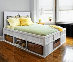 Simple Diy Bed Frame Perfect Queen Platform Bed With Storage And Headboard Image Of Diy