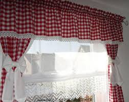 Red Scarf Valance Window Scarf Holder Etsy