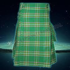 irish national tartan utility kilt tartan cargo style kilt
