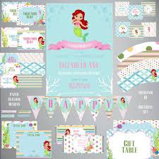 mermaid birthday party invitation a beautiful inspiration