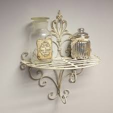 Shabby Chic Wall Sconces Shabby Chic Vintage Style Sconce Wall Shelf Display Metal Rack