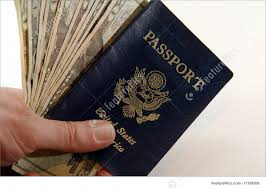 us twenties and passport n hand stock image i1199200 at featurepics
