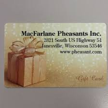 dinner gift cards pheasant for dinner gift cards