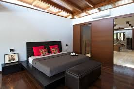 bedroom bathroom courtyard house by hiren patel architects