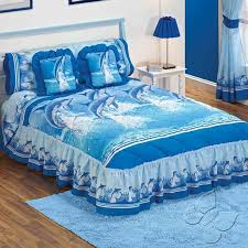 amazon com blue sea dolphins bedspread sheets bedding set queen