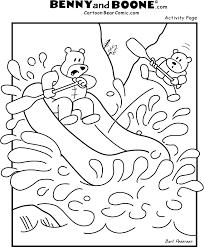 benny boone bear whitewater rafting colouring