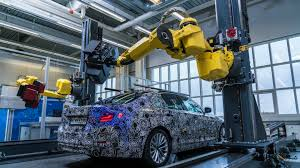 bmw factory robots 2017 bmw 5 series prototype receives robot 3d mapping for quality