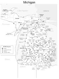 Maps Of Michigan Map Of Michigan Airports Michigan Map