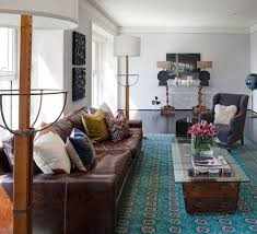 Living Room Colours That Go With Brown Sofas - Living room design with brown leather sofa
