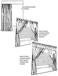 What Is Standard Shower Curtain Size County Draperies