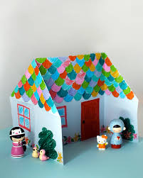 Easy Paper Craft For Kids - make an adorable origami doll house