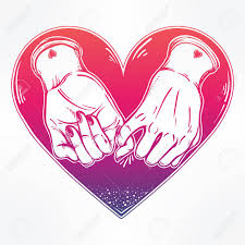 friendship heart promise holding on the heart background vector