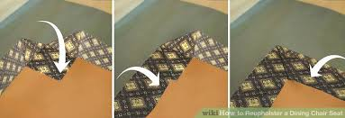How To Upholster A Dining Chair How To Reupholster A Dining Chair Seat 14 Steps With Pictures