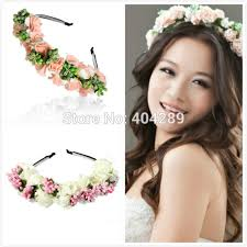 flower hair band flower hairband bridal wedding girl hair accessories wreath for