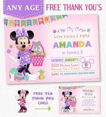 69 minnie mouse invitations u0026 printables images