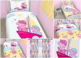 Peppa Pig Toddler Duvet Cover Peppa Pig Nautical Duvet Cover Bed Sets Curtains U0026 Matching