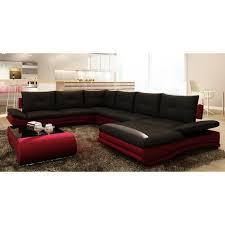 canapé m canapé d angle design panoramique noir et violet m achat vente