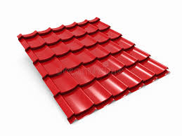 Metal Roof Tiles Metal Roof Tile Sheet Stock Illustration Illustration Of