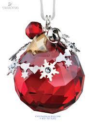 1144685 swarovski christmas ornament light siam satin