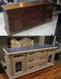 Painted Bedroom Furniture Before And After by Best 25 Dresser To Buffet Ideas On Pinterest Black Dresser