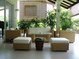 Outdoor Patio Roll Up Shades by Exterior Neutral Polish Patio Roll Up Bamboo Shades Hanging On