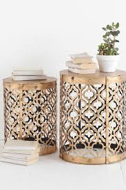 Quatrefoil Side Table Gold Accent Coffee Table House Decorations