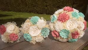 sola flowers medium wedding bouquet ivory mint and coral sola flowers and