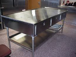 stainless steel kitchen island table stainless steel kitchen prep table 4 kitchen design ideas