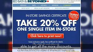 bed bath and beyond coupon zone youtube