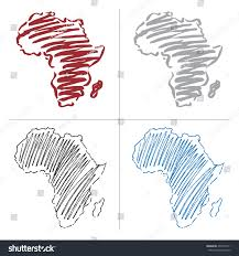 africa map drawing vector drawing map africa stock vector 203734111