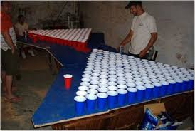 Beer Pong Tables With Lots Of Cups Archives Page  Of  Beer - Beer pong table designs