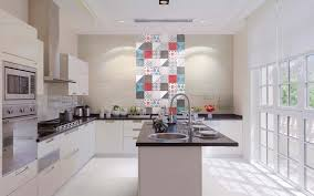 cuisine carreaux ciment crédence cuisine carreaux de ciment patchwork et artistique