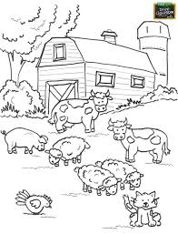 Farm Coloring Pages For Kids Farm Yard Coloring Pages Online For Farm Color Page