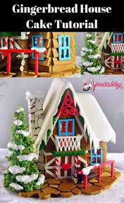 the best gingerbread house cake and tutorial ever loved watching