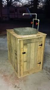 Outdoor Sink Ideas Utility Sink I Built From Pallet Wood And An Old Wash Tub