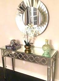 foyer mirrors foyer mirrors with hooks table and mirror set console image