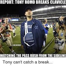 Tony Romo Meme Images - report tony romo breaks clavicle onflmemez watching the passrushfrom