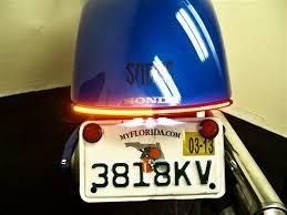 2010 2013 honda sabre led brake light bar fender kit integrated