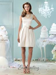 casual wedding dress enchanting by mon cheri 215109 satin casual wedding dress